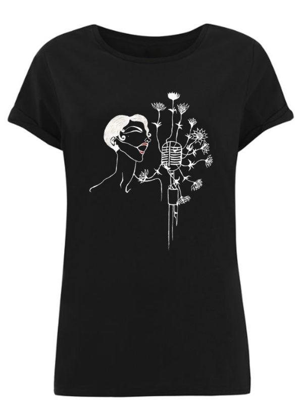 Camiseta negra mangas enrolladas (Cantante)