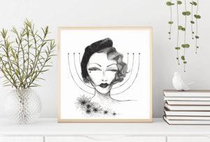 Lámina Marlene Dietrich